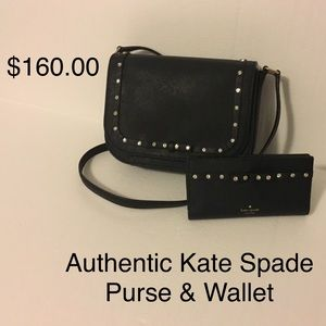 Kate Spade Purse and wallet.  pristine condition